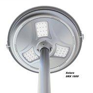 Ronde LED lantaarnpaal armatuur met zonnepaneel en accu solare SRX1500