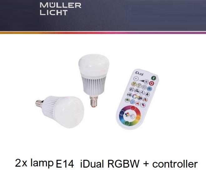 idual starterkit verlichting e14 rgbw led lampen partner. Black Bedroom Furniture Sets. Home Design Ideas