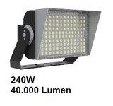 VOCARE LED MAX SPORT ULTRALUX 240W heavy duty schijnwerper voor LED sportveld en plein verlichting_