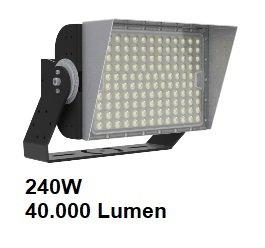 VOCARE LED MAX SPORT ULTRALUX 240W heavy duty schijnwerper voor LED sportveld en plein verlichting