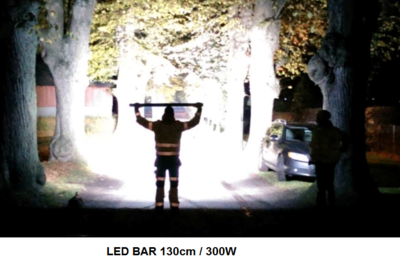 LED light bar for trucks and heavy industry, 300 watt - LED lampen ...