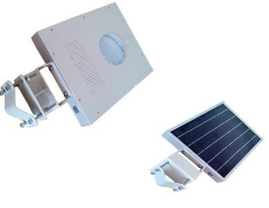 LED Lantaarnpaal armatuur + zonnepaneel accu en bewegingsmelder ...