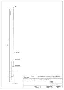 8 meter bovengronds stalen lantaarnpaal / lichtmast