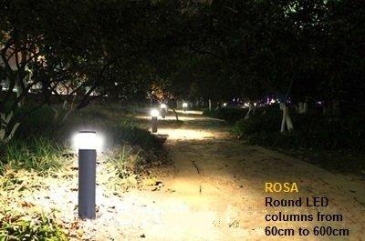 ROSA SAM 600 ronde paal met LED verlichting - LED lampen partner