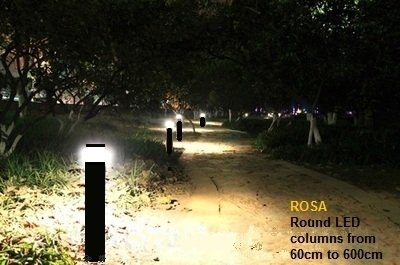 Rosa sam ronde paal met led verlichting led lampen partner