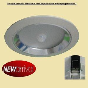 LED inbouw plafondlamp 10 watt met INGEBOUWDE BEWEGINGSMELDER - LED ...