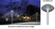 LED solar ronde led lantaarnpaal-lamp met accu en zonnepaneel voor plein en park